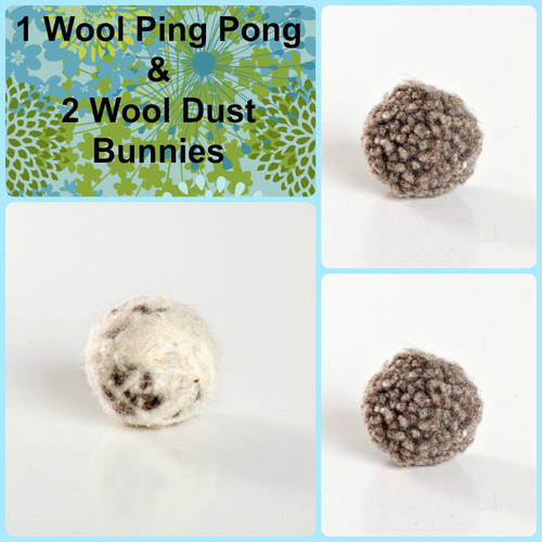 Sweet little gift for kitties.  Naturally fun wool chase balls.  Made with love in the USA.  Purrfectplay.com