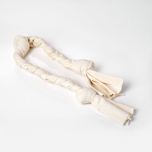 Organic Cotton Tug Dog Toy.  Large Tug toy for dogs.  Hand braided. Durable and Washable. Great interactive dog toy!