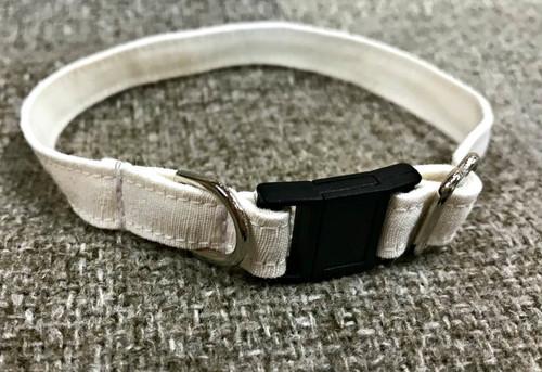 Hemp Silk/ Matte Cat Collar. Natural cat collar made in USA. Breakaway buckle.