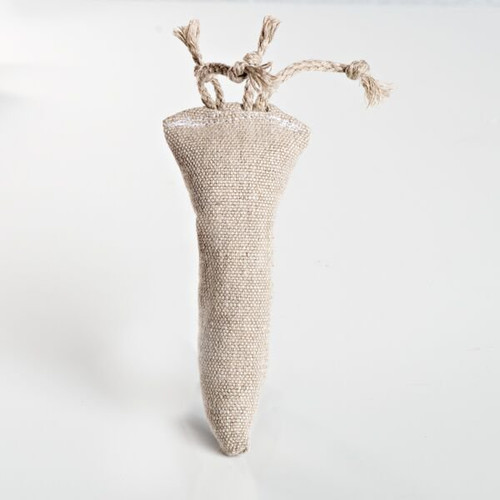 Natural Hemp Catnip Carrot cat toy, filled with certified organic catnip. USA Made.