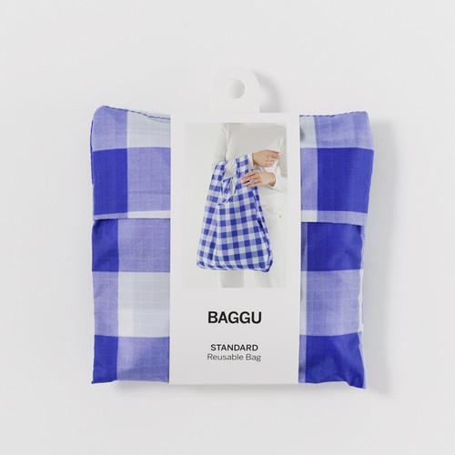 Big Check Blue  -  Standard Baggu