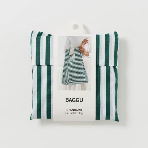 Green Hunter Stripe - Standard Baggu