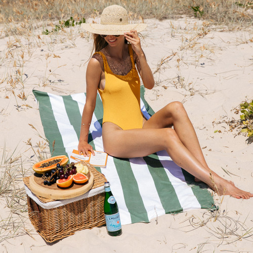 Sumoii Sand Free Beach Towel -  Sage Garden