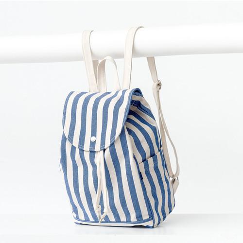 Summer Stripe - Drawstring Backpack - BAGGU