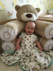 Hippose round wide sleeping bags for babies with hip dysplasia