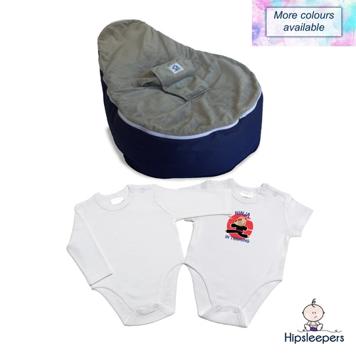 Our Spring Package includes a Supportive Bean Seat and 2 x high cut onesies