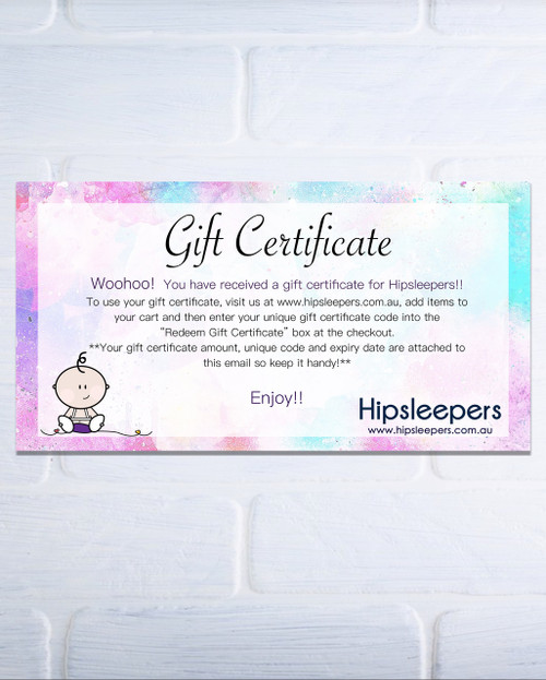 Hipsleepers gift certificate