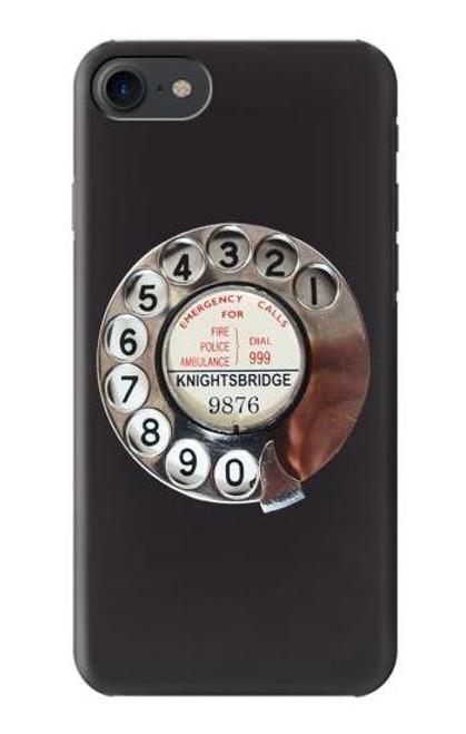 W0059 Retro Rotary Phone Dial On Funda Carcasa Case y Caso Del Tirón Funda para iPhone 7, iPhone 8, iPhone SE (2020)