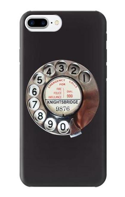 W0059 Retro Rotary Phone Dial On Funda Carcasa Case y Caso Del Tirón Funda para iPhone 7 Plus, iPhone 8 Plus
