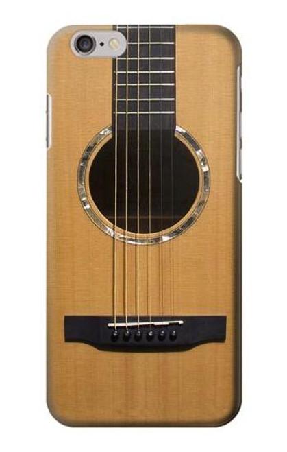 W0057 Acoustic Guitar Funda Carcasa Case y Caso Del Tirón Funda para iPhone 6 Plus, 6S Plus