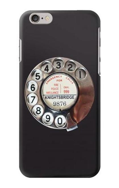 W0059 Retro Rotary Phone Dial On Funda Carcasa Case y Caso Del Tirón Funda para iPhone 6 Plus, 6S Plus