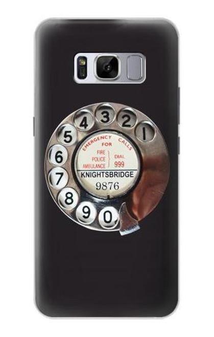 W0059 Retro Rotary Phone Dial On Funda Carcasa Case y Caso Del Tirón Funda para Samsung Galaxy S8