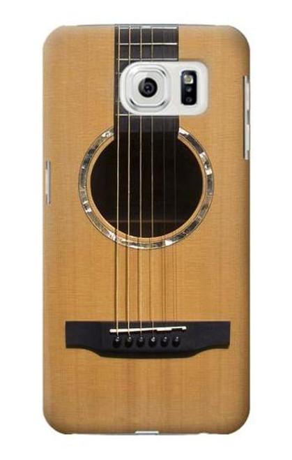 W0057 Acoustic Guitar Funda Carcasa Case y Caso Del Tirón Funda para Samsung Galaxy S7 Edge