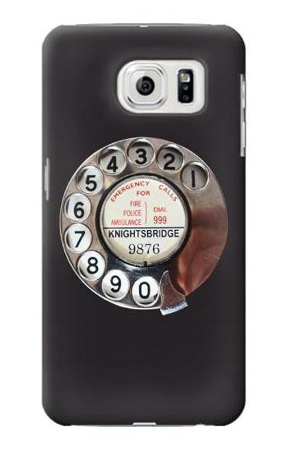 W0059 Retro Rotary Phone Dial On Funda Carcasa Case y Caso Del Tirón Funda para Samsung Galaxy S7 Edge