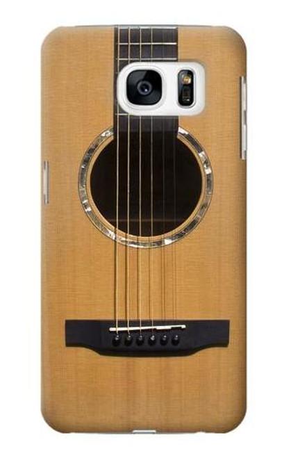 W0057 Acoustic Guitar Funda Carcasa Case y Caso Del Tirón Funda para Samsung Galaxy S7