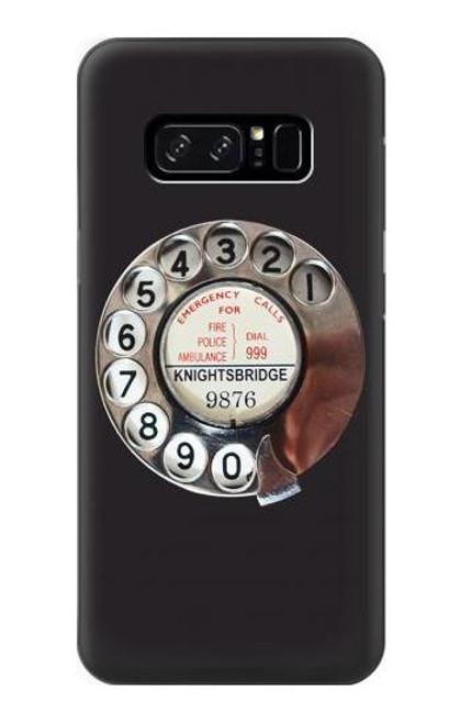 W0059 Retro Rotary Phone Dial On Funda Carcasa Case y Caso Del Tirón Funda para Note 8 Samsung Galaxy Note8