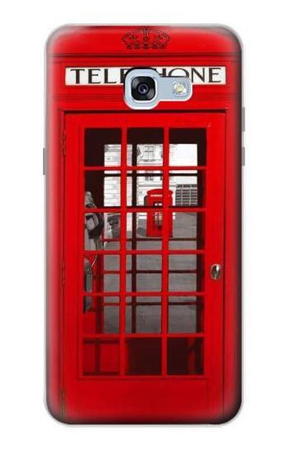W0058 British Red Telephone Box Funda Carcasa Case y Caso Del Tirón Funda para Samsung Galaxy A5 (2017)