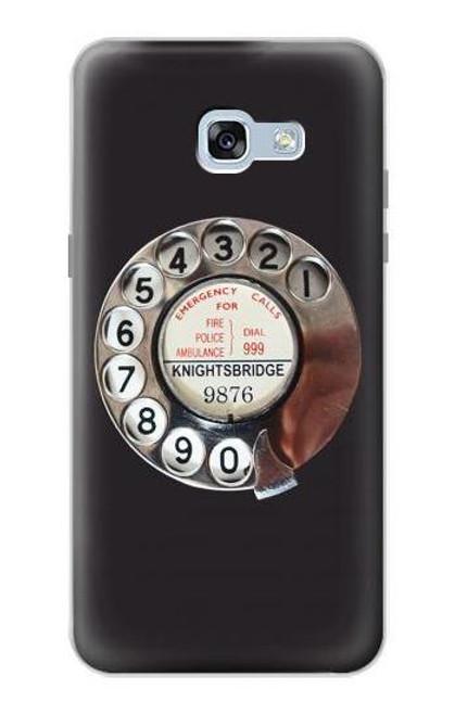 W0059 Retro Rotary Phone Dial On Funda Carcasa Case y Caso Del Tirón Funda para Samsung Galaxy A5 (2017)