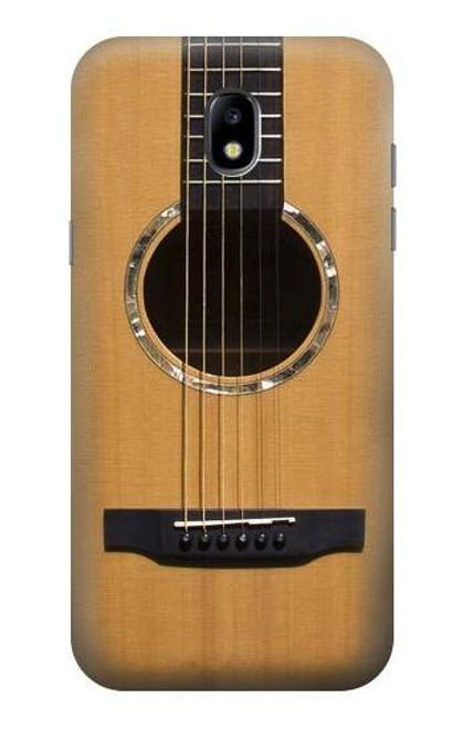 W0057 Acoustic Guitar Funda Carcasa Case y Caso Del Tirón Funda para Samsung Galaxy J5 (2017) EU Version