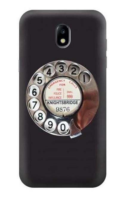 W0059 Retro Rotary Phone Dial On Funda Carcasa Case y Caso Del Tirón Funda para Samsung Galaxy J5 (2017) EU Version