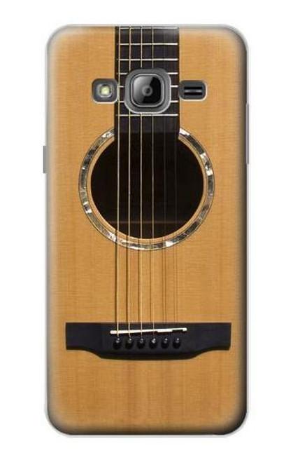 W0057 Acoustic Guitar Funda Carcasa Case y Caso Del Tirón Funda para Samsung Galaxy J3 (2016)