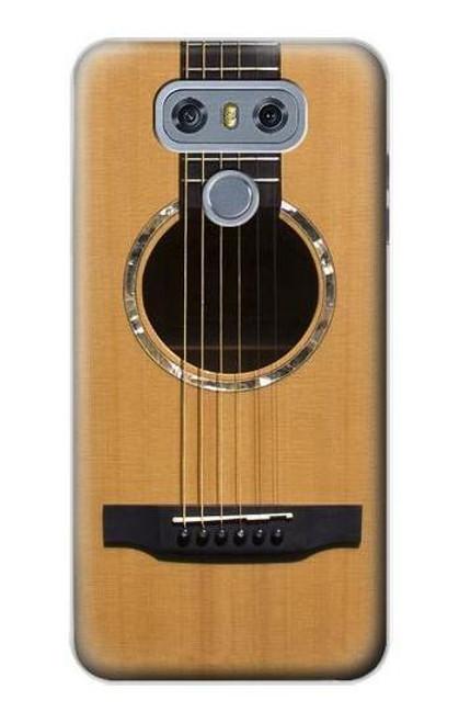 W0057 Acoustic Guitar Funda Carcasa Case y Caso Del Tirón Funda para LG G6
