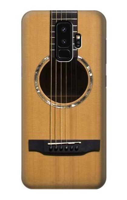 W0057 Acoustic Guitar Funda Carcasa Case y Caso Del Tirón Funda para Samsung Galaxy S9 Plus