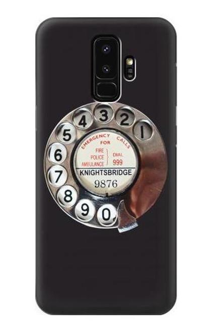 W0059 Retro Rotary Phone Dial On Funda Carcasa Case y Caso Del Tirón Funda para Samsung Galaxy S9 Plus