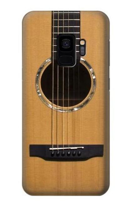W0057 Acoustic Guitar Funda Carcasa Case y Caso Del Tirón Funda para Samsung Galaxy S9