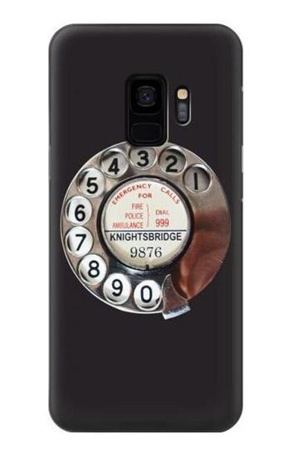 W0059 Retro Rotary Phone Dial On Funda Carcasa Case y Caso Del Tirón Funda para Samsung Galaxy S9