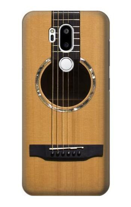 W0057 Acoustic Guitar Funda Carcasa Case y Caso Del Tirón Funda para LG G7 ThinQ