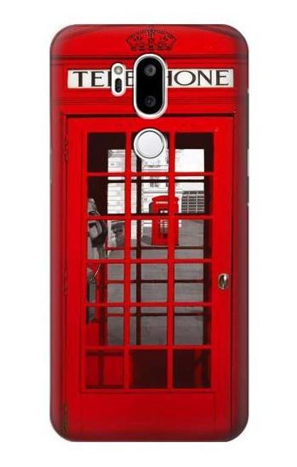 W0058 British Red Telephone Box Funda Carcasa Case y Caso Del Tirón Funda para LG G7 ThinQ
