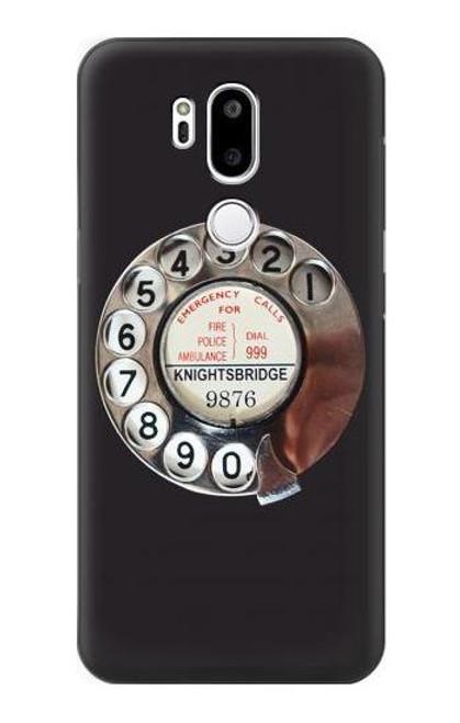 W0059 Retro Rotary Phone Dial On Funda Carcasa Case y Caso Del Tirón Funda para LG G7 ThinQ