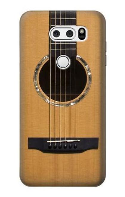 W0057 Acoustic Guitar Funda Carcasa Case y Caso Del Tirón Funda para LG V30, LG V30 Plus, LG V30S ThinQ, LG V35, LG V35 ThinQ