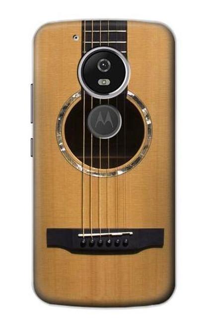 W0057 Acoustic Guitar Funda Carcasa Case y Caso Del Tirón Funda para Motorola Moto G6 Play, Moto G6 Forge, Moto E5