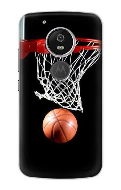 W0066 Basketball Funda Carcasa Case y Caso Del Tirón Funda para Motorola Moto G6 Play, Moto G6 Forge, Moto E5