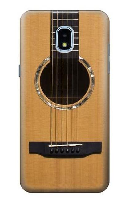 W0057 Acoustic Guitar Funda Carcasa Case y Caso Del Tirón Funda para Samsung Galaxy J3 (2018), J3 Star, J3 V 3rd Gen, J3 Orbit, J3 Achieve, Express Prime 3, Amp Prime 3