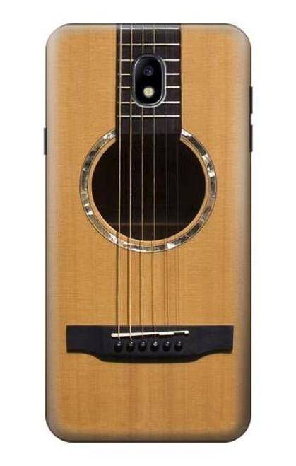W0057 Acoustic Guitar Funda Carcasa Case y Caso Del Tirón Funda para Samsung Galaxy J7 (2018), J7 Aero, J7 Top, J7 Aura, J7 Crown, J7 Refine, J7 Eon, J7 V 2nd Gen, J7 Star