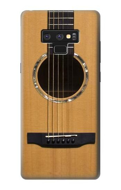 W0057 Acoustic Guitar Funda Carcasa Case y Caso Del Tirón Funda para Note 9 Samsung Galaxy Note9