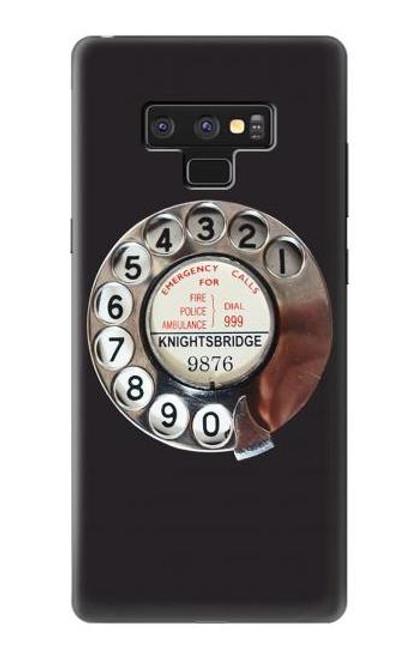 W0059 Retro Rotary Phone Dial On Funda Carcasa Case y Caso Del Tirón Funda para Note 9 Samsung Galaxy Note9