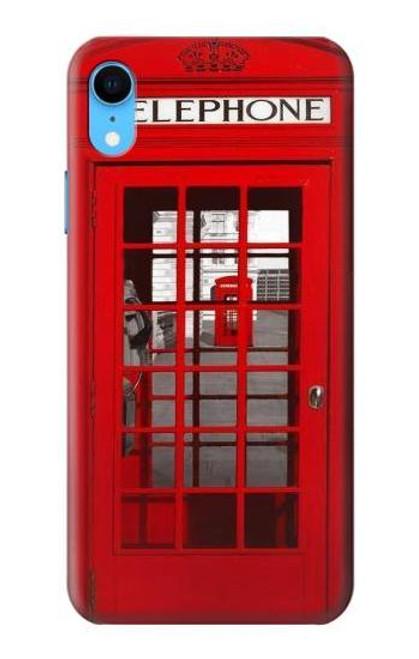 W0058 British Red Telephone Box Funda Carcasa Case y Caso Del Tirón Funda para iPhone XR