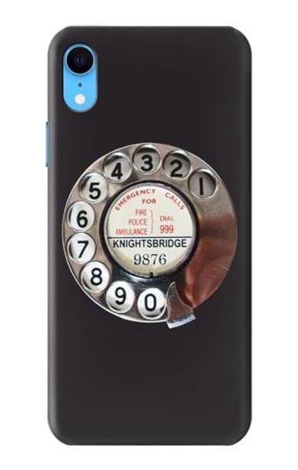 W0059 Retro Rotary Phone Dial On Funda Carcasa Case y Caso Del Tirón Funda para iPhone XR