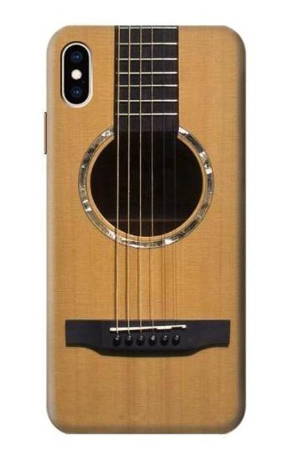 W0057 Acoustic Guitar Funda Carcasa Case y Caso Del Tirón Funda para iPhone XS Max