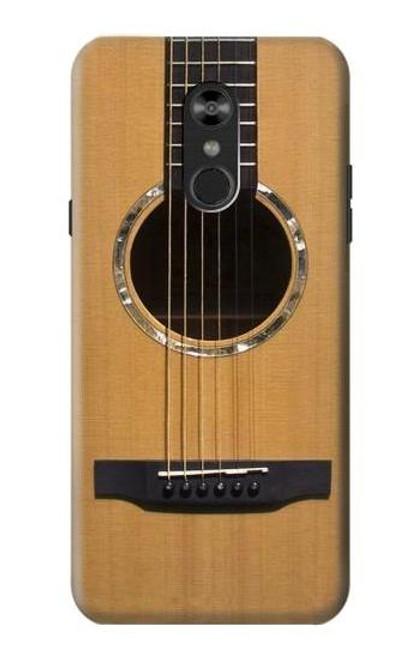 W0057 Acoustic Guitar Funda Carcasa Case y Caso Del Tirón Funda para LG Q Stylo 4, LG Q Stylus