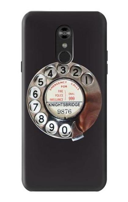 W0059 Retro Rotary Phone Dial On Funda Carcasa Case y Caso Del Tirón Funda para LG Q Stylo 4, LG Q Stylus