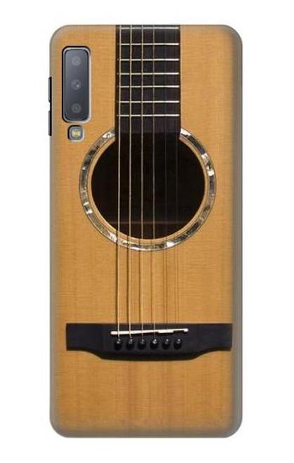 W0057 Acoustic Guitar Funda Carcasa Case y Caso Del Tirón Funda para Samsung Galaxy A7 (2018)