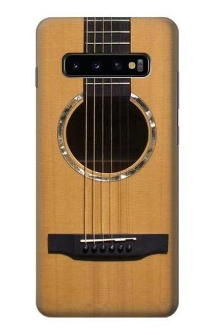 W0057 Acoustic Guitar Funda Carcasa Case y Caso Del Tirón Funda para Samsung Galaxy S10 Plus