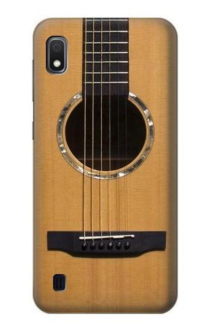 W0057 Acoustic Guitar Funda Carcasa Case y Caso Del Tirón Funda para Samsung Galaxy A10