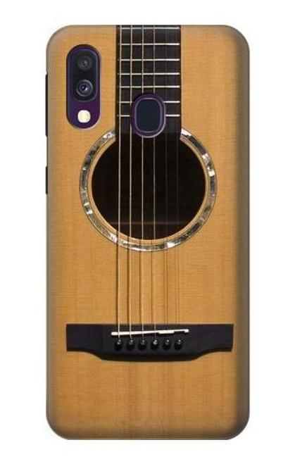 W0057 Acoustic Guitar Funda Carcasa Case y Caso Del Tirón Funda para Samsung Galaxy A40