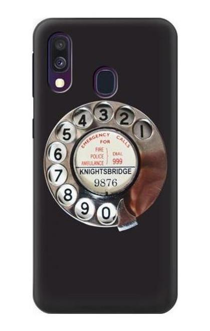 W0059 Retro Rotary Phone Dial On Funda Carcasa Case y Caso Del Tirón Funda para Samsung Galaxy A40